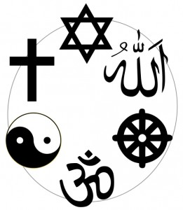 Symbols from 6 major religious traditions